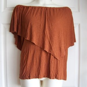 Elan Tunic Blouse brown Women's Size 1x